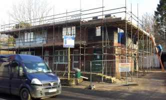Scaffold Extension and New Roof Surrey