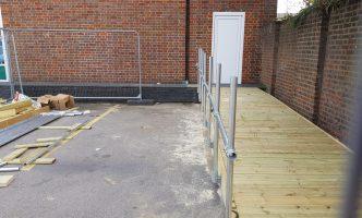 Timber Access Ramp and Rail Construction Surrey