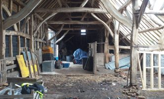 Creating Temporary Supports to Listed Barn