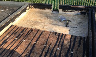 Deck Replaced Flat Roof