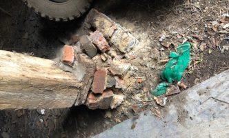 Brickwork in barn had failed