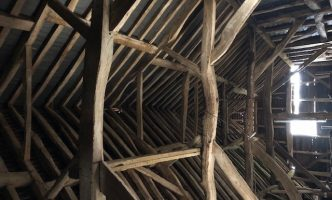 Timbers in Listed barn